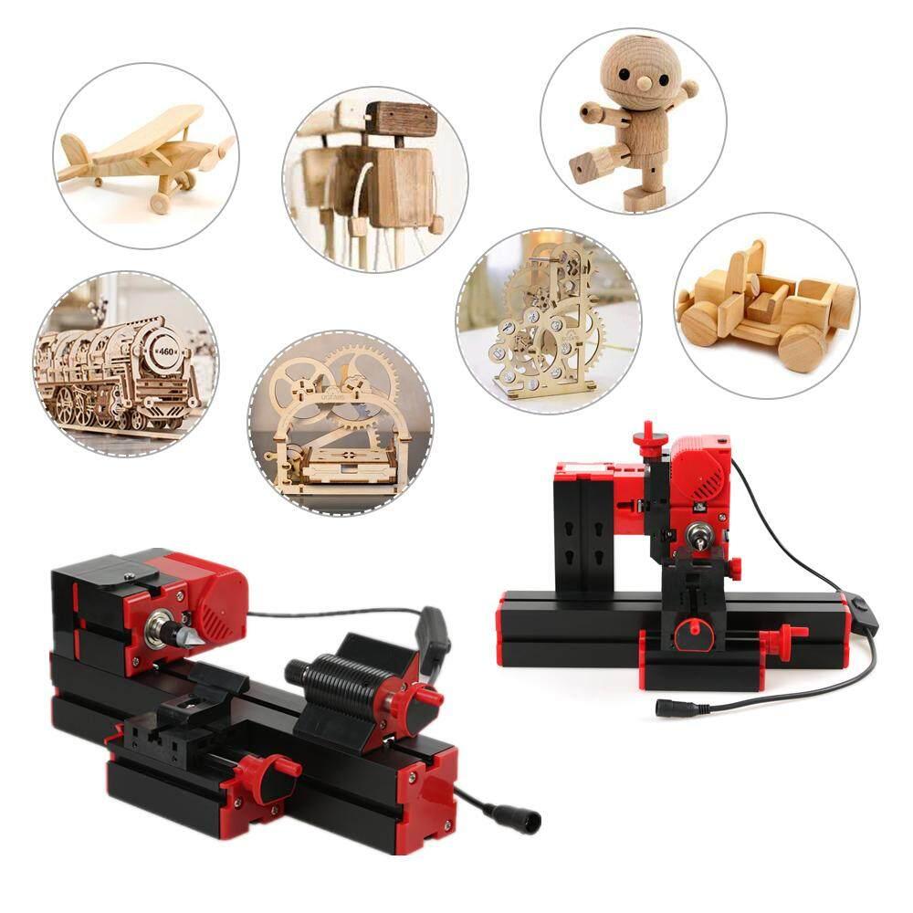 6in1 Metal Wood Lathe DIY Tool Jigsaw Milling Drilling Machine Model Works Make