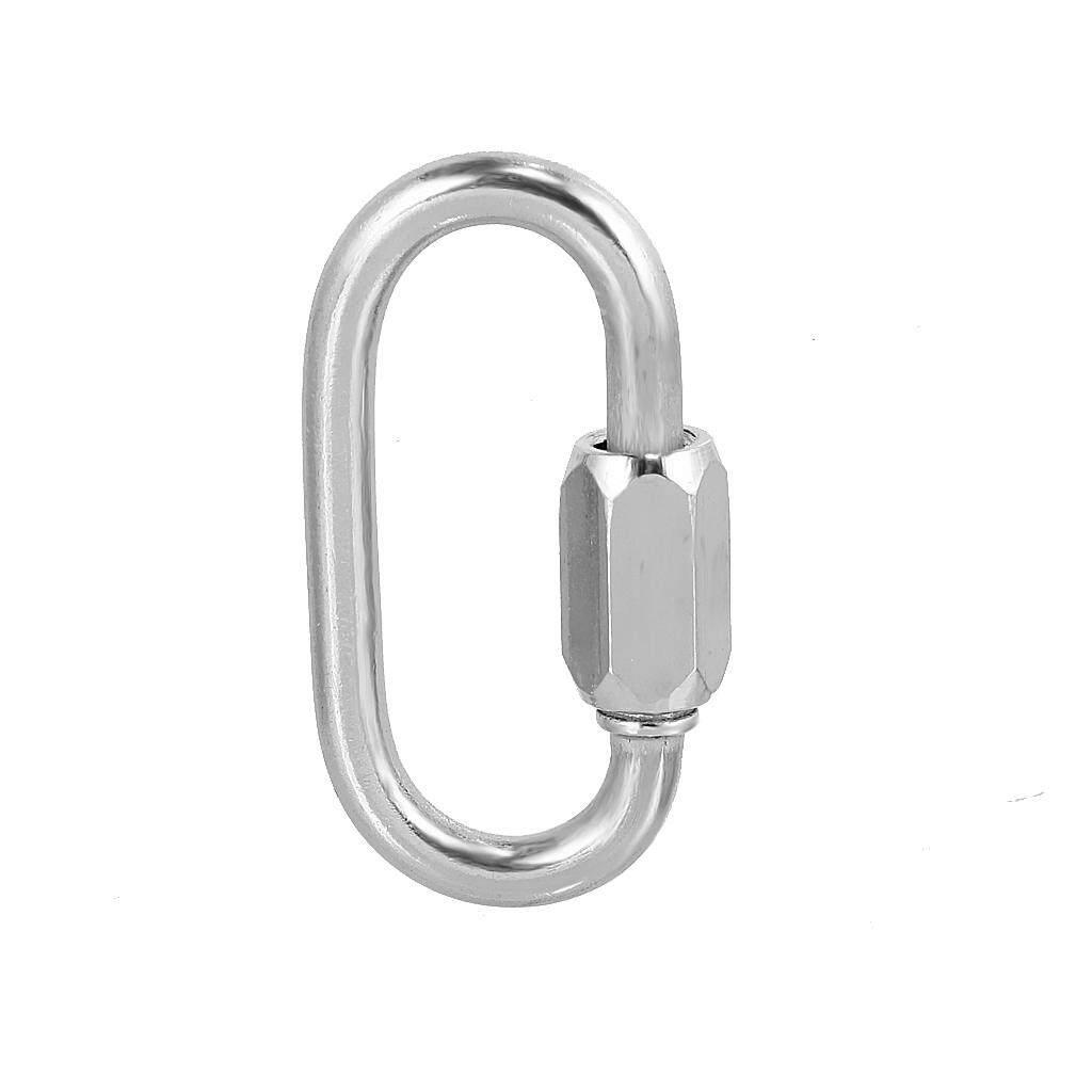 CARABINER SNAP HOOK 316 STAINLESS STEEL CLIMBING CLIP LOCK  5 6 8 10 mm
