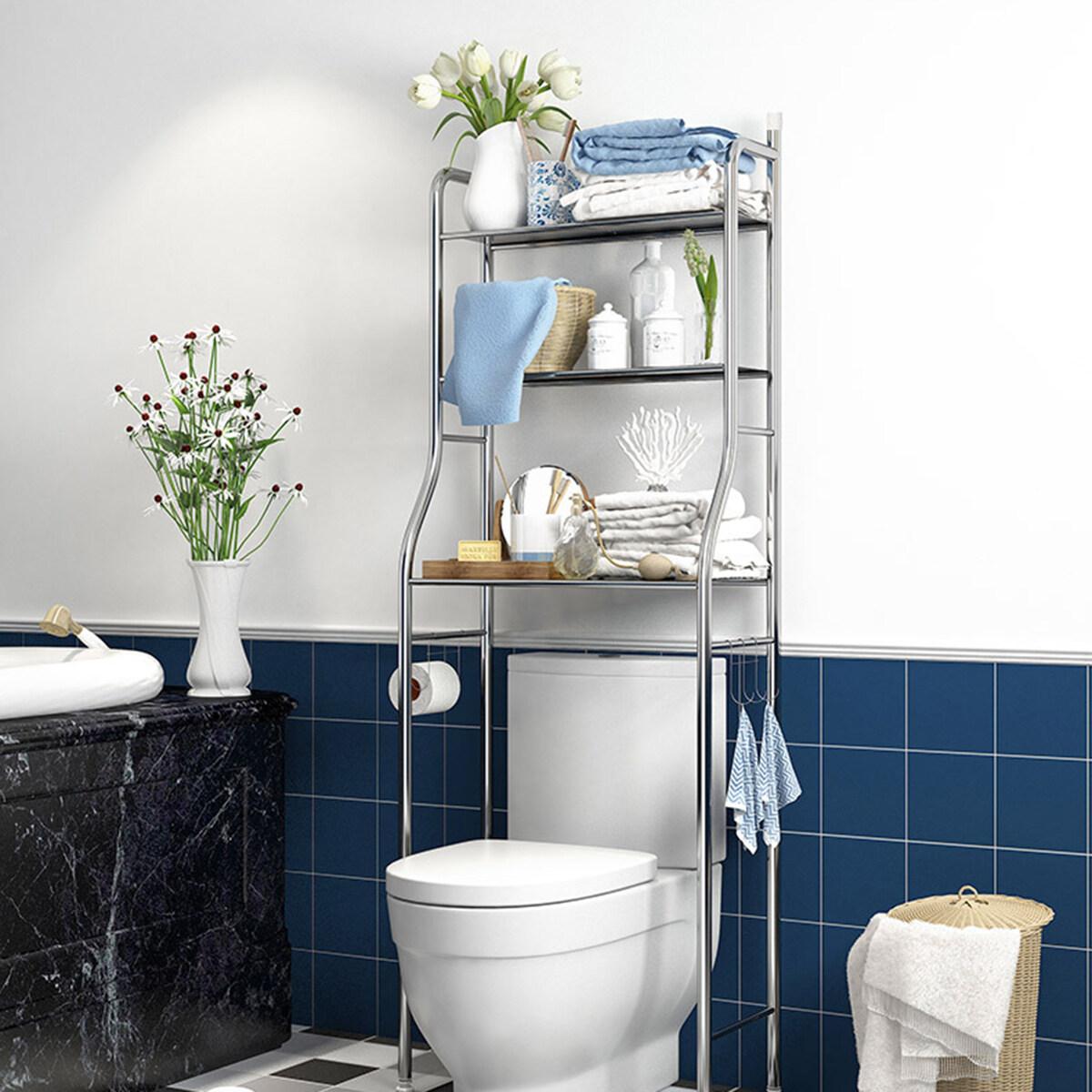 Shelf Toilet Storage Unit Metal Racks
