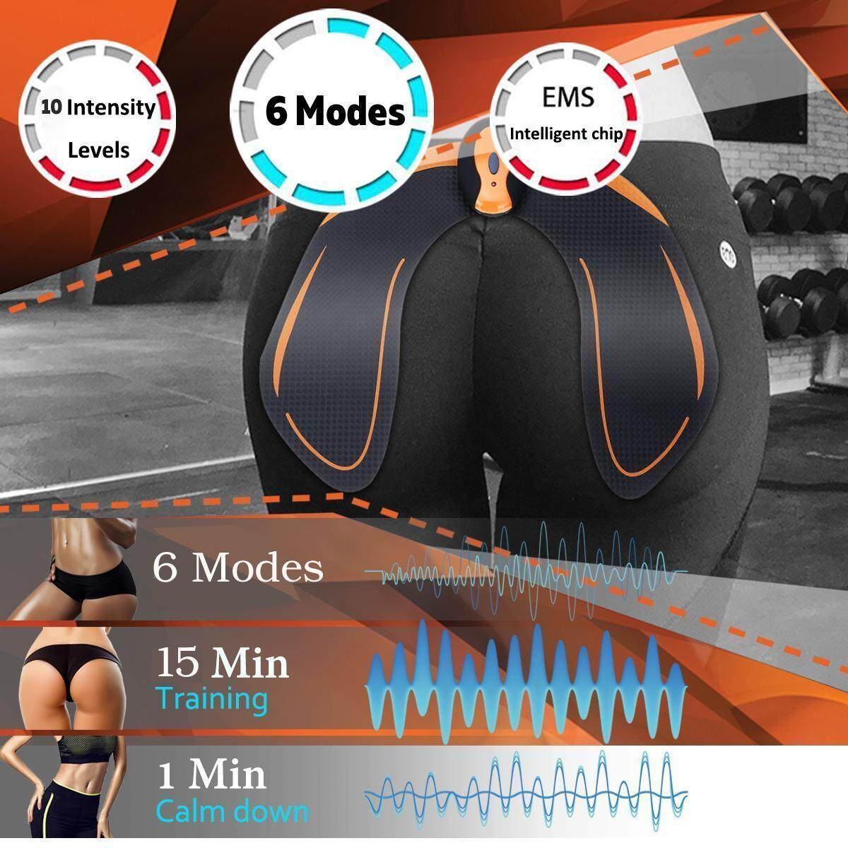 35d95be2f04 6 Mode 10 Intensity Intelligent Buttock Hip Trainer Lifting ...
