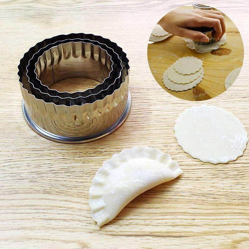 Stainless Steel Dough Press Dumpling Maker Mold Pastry Cutter Kitchen Tool Set