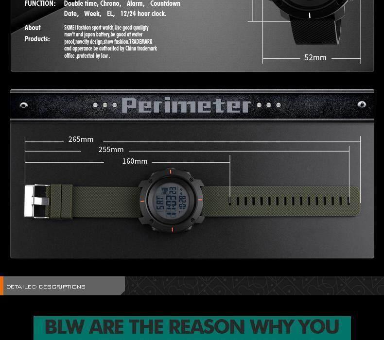 Specifications of SKMEI Men Sport Watch Simple Digital Watches Double Time  Countdown Clock Minimalist Watch Waterproof Wristwatches Jam tangan lelaki  1213 ff4abb7ace