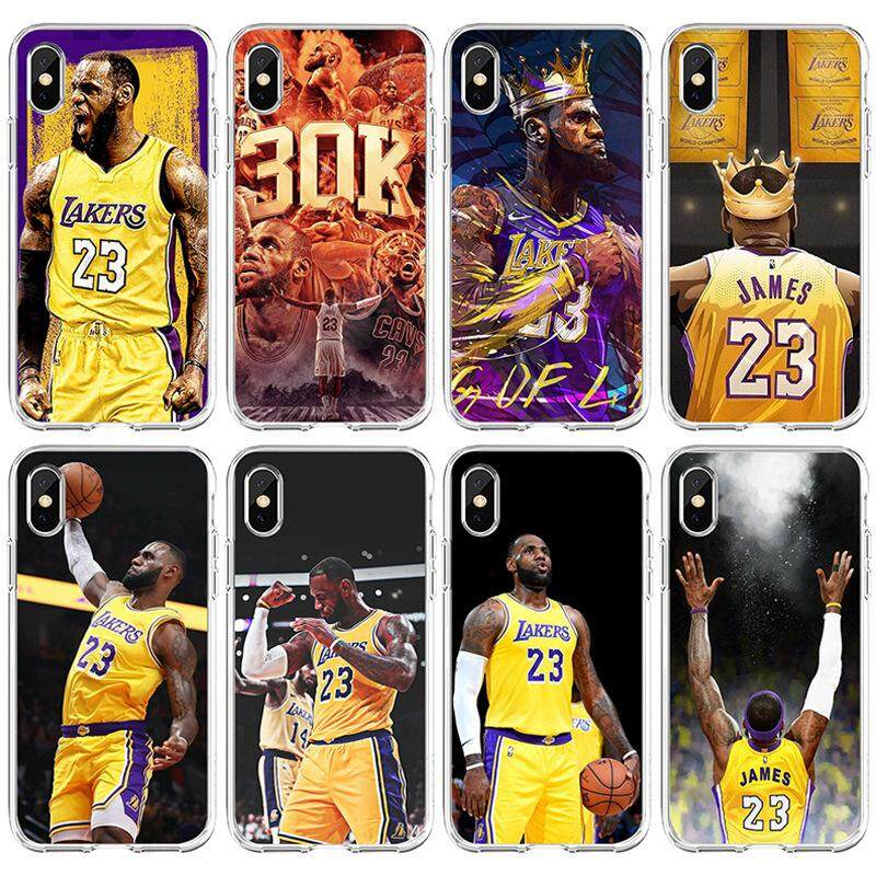 7c79e8b19ca54 Popular NBA Basketball Player Star LeBron James iPhone 5s 5 SE 6 6s 7 8  Plus X XS Max Case Cover Cartoon Soft TPU Protective Shockproof Cover for  ...