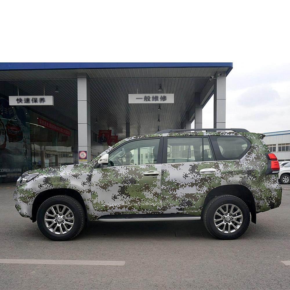 Camouflage vinyl pvc car styling 20cm152cm army military digital woodland green desert camo car wrap film 3d car stickers