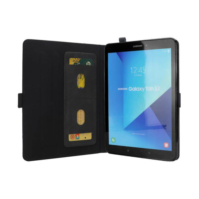 buy popular f4f0e a9901 Samsung Galaxy Tab S3 9.7 T820 T825 Case Multifunctional PU Leather Tablet  Case Flip Stand Cover with Card Slots and Pen Holder Black