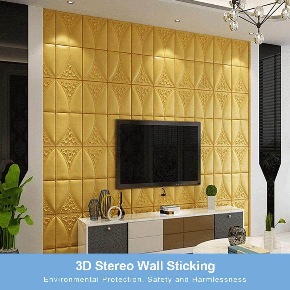 1 Buah 70X70 Cm PE Busa Stiker Dinding 3D Dekorasi Rumah Wallpaper Bata Dekorasi Dinding Diy Ruang Tamu Kamar Tidur Anak Anak Stiker Hiasan