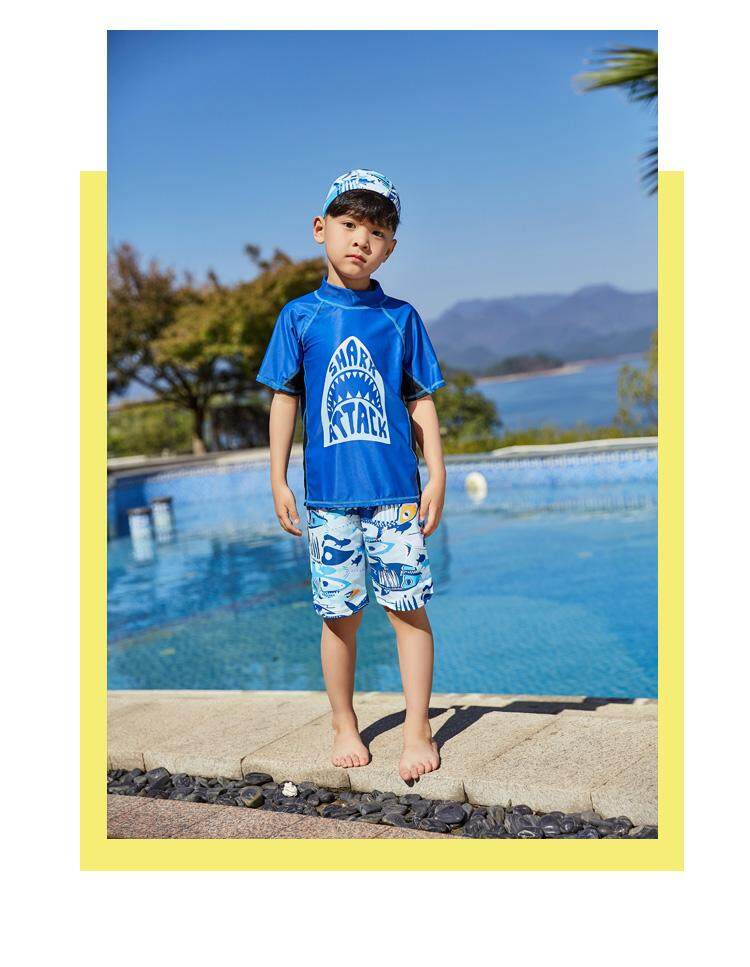 b500798431 Specifications of Luoke Brand Children Swimsuit Clothing Sets Swimming  Shirts+Trunks Kids Bathing Suit Toddler Boys Sports Clothes