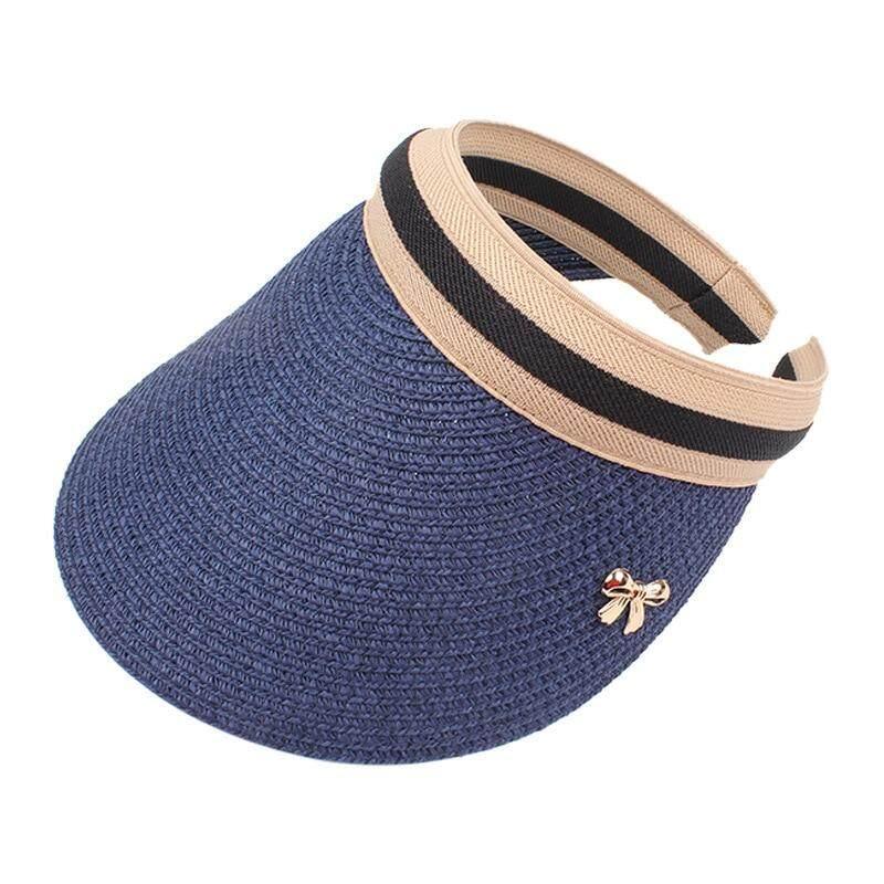 2019 New Womans Sun Hats Hand Made DIY Straw Bowknot Visor Caps Parent-Child Summer Cap Casual Shade Hat Empty Top Hat Beach,Khaki,Adult