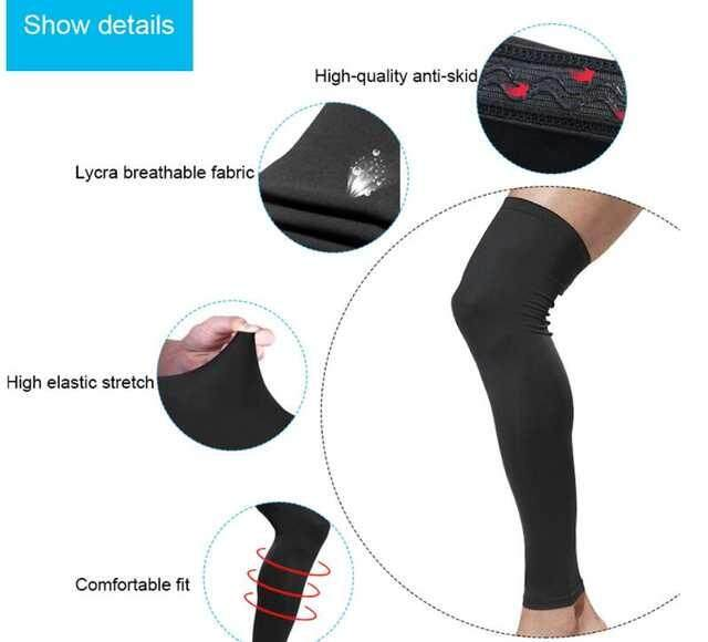 New Cycling Bike Bicycle Leg Warmer Guard Knee Warm Sun UV Protection Black