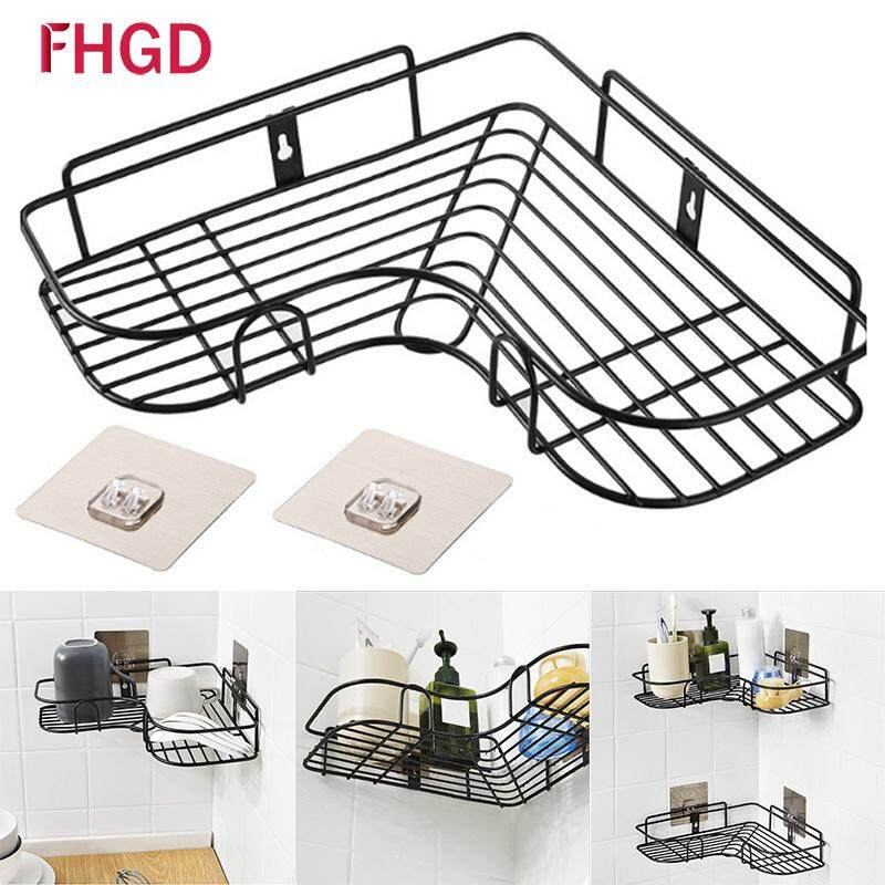 1 x Metal Corner Storage Holder Drain Shelves Punch-Free Strong Wall Suction