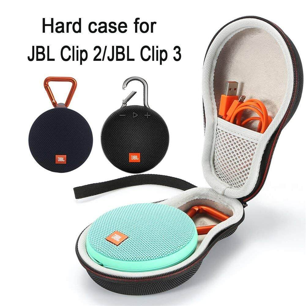 Portable Case Travel Cover For JBL Clip2 Clip 3 Bluetooth Speaker Sound Box  Storage Carry Bag With Mesh Pocket Strap