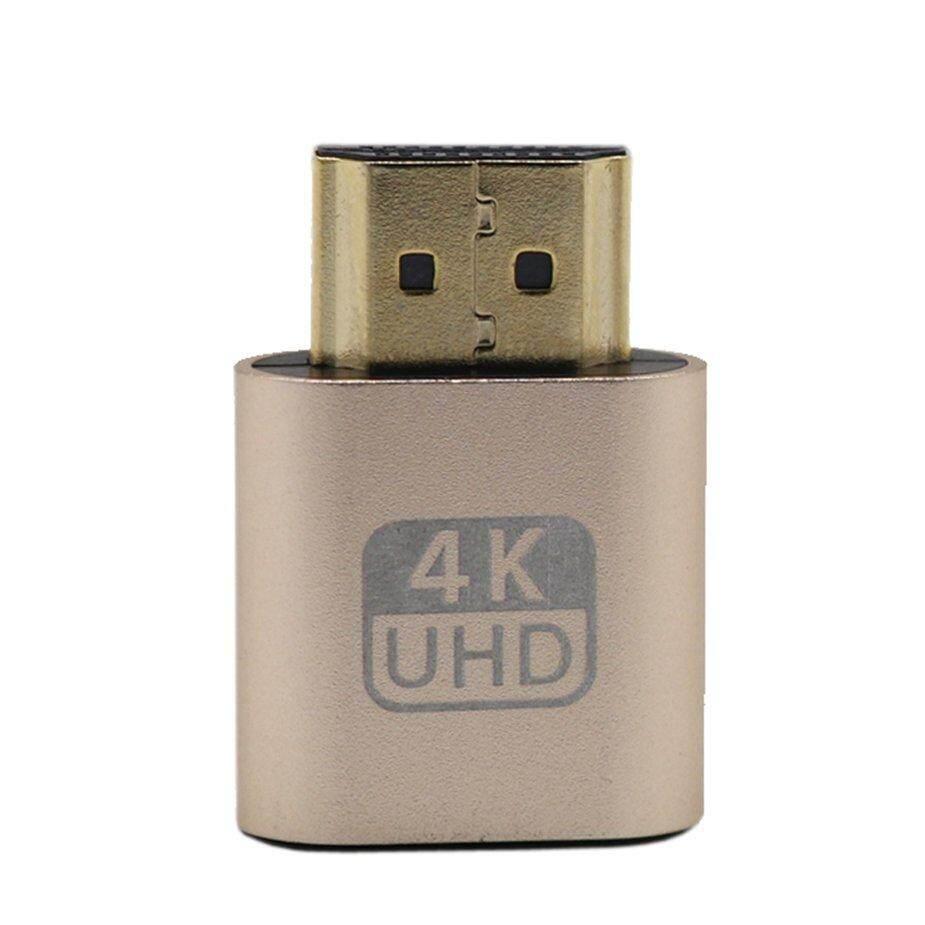 Hot Sale VGA HDMI Dummy Plug Virtual Display Emulator Adapter DDC Edid  Support 1920x1080P For Video Card BTC Mining Miner