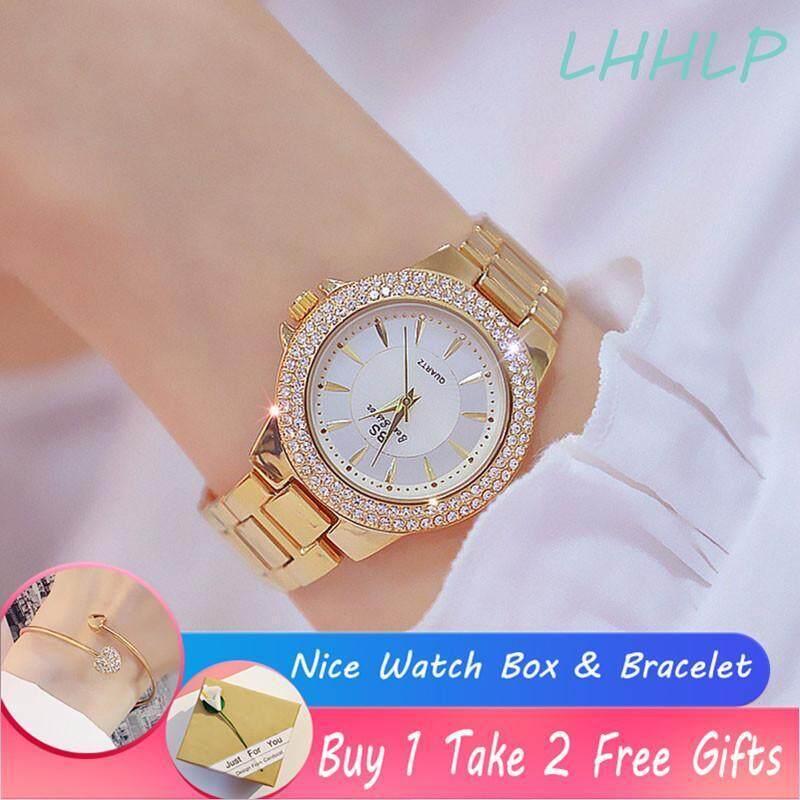 With Nice Watch Box Bracelet Bs Beesister Fa1558 Fashion High End Luxury Rhinestone Diamond Dial Stainless Steel Strap Quartz Ladies Watch