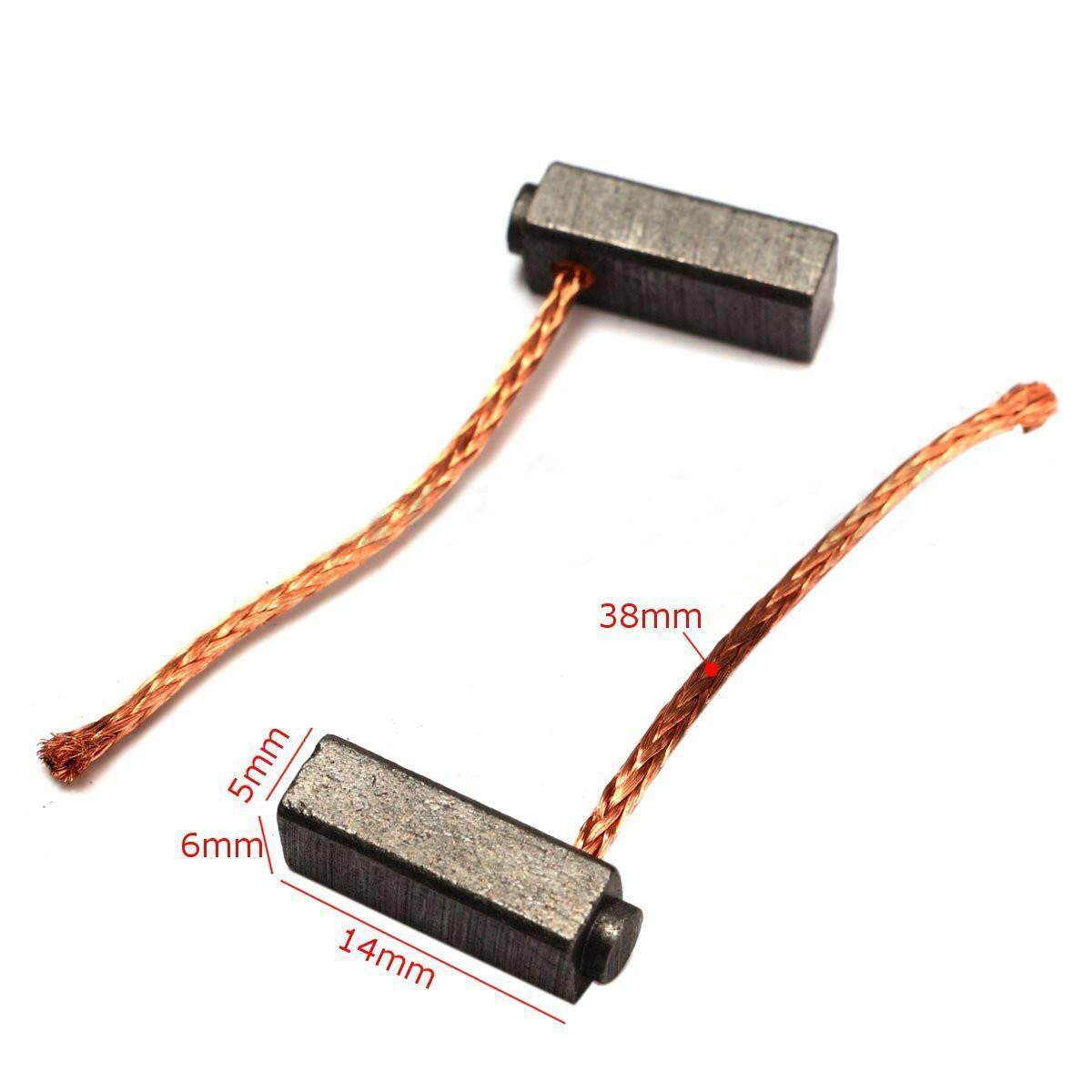 10 Pcs Carbon Brushes Motor Brush Set For Generic Electric Replacement 5x6x14mm