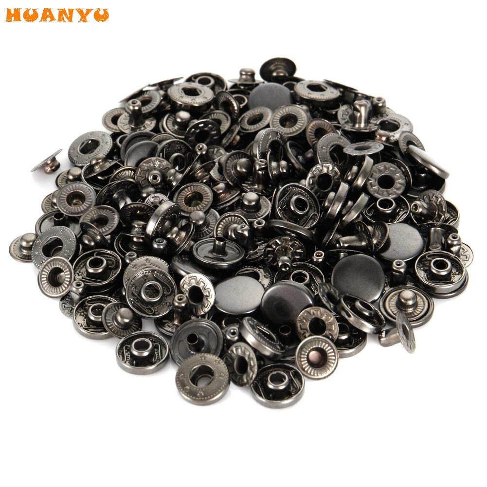 40 Sets Metal Snap Button Snaps Fasteners With 4 Pieces Fixing Tools Press Studs