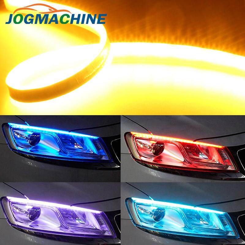 2pcs 60CM Auto Lamps LED Car Headlight Strip Light DRL Slim Flexible Turn Signal