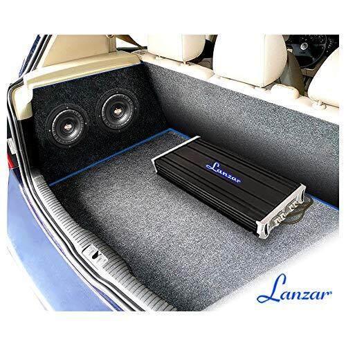 Black Non-Pressed Paper Cone 800 Watt Power and Foam Edge Suspension for Vehicle Audio Stereo Sound System Lanzar 8 inch Car Subwoofer Speaker MAXP84 4 Ohm Impedance Aluminum Voice Coil