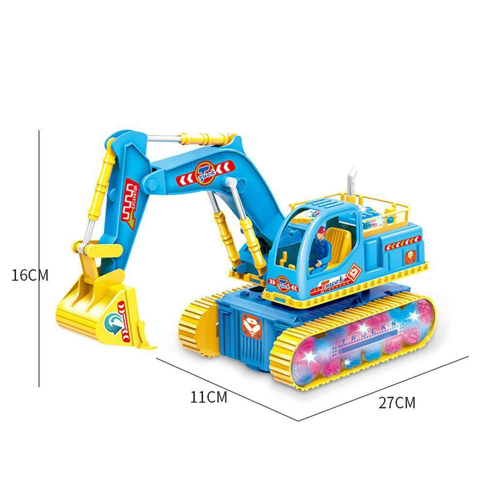 Excavator Car Light Music Excavator Funny Smart Excavator Entertainment  Excavator Toy