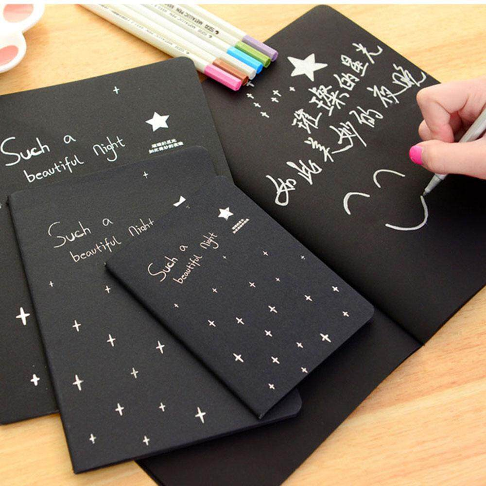2 Pcs Sketchbook Notepad Alat Tulis Kertas Gambar Sekolah Sketsa Peralatan Kertas Notebook Buku Lukis Alat Tulis Kertas Hitam