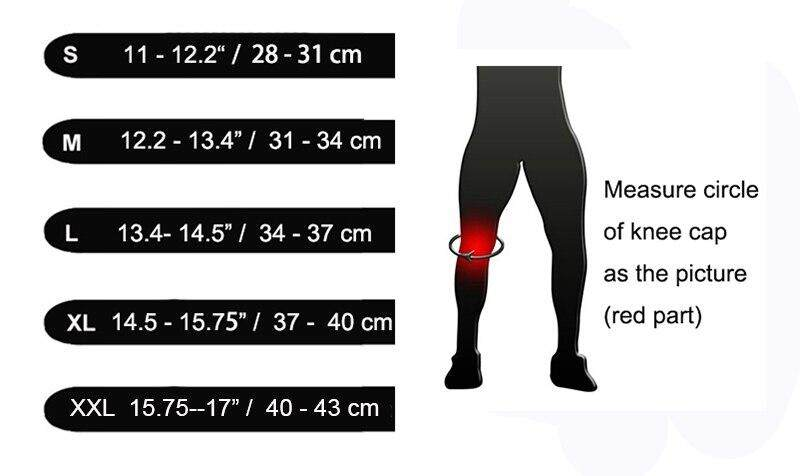 4da4a89511 1Pair of Knee Sleeves Support Compression Neoprene 7mm for Men Women ...