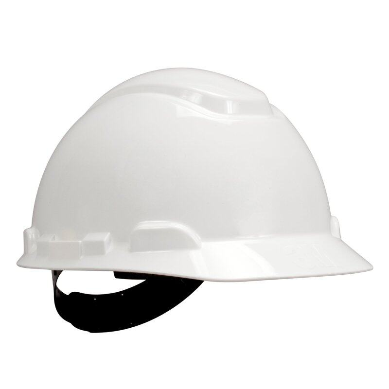 3M H-701P Hard Hat White; 4-Point Pinlock, Comes With 3M 1990 Chinstrap