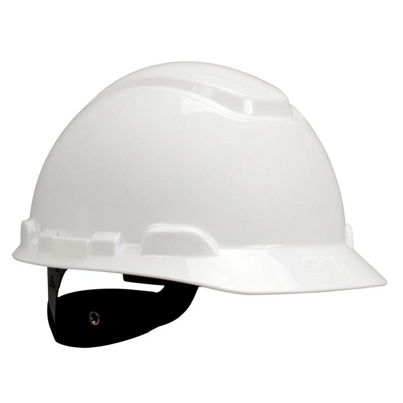 3M H-701R Helmet Hard Hat White; 4-Point Pinlock, Comes With 3M 1990 Chinstrap