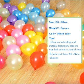 10inch 1.2g 100pcs/lot Metallic Latex Helium Inflatable ThickeningPearl Balloons Wedding Decorations ballon Ball - 3