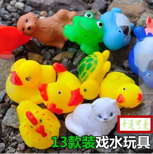 13 only dress animal baby bath toys baby pinch called animal playing in the water baby toys