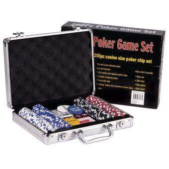 Harga 200 Chips Poker Game Set With Aluminium Briefcase Casino Game