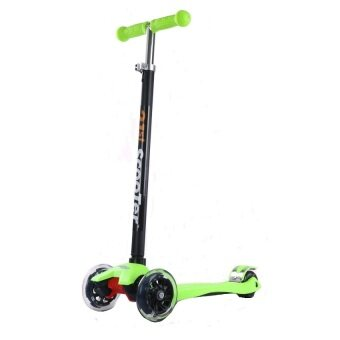 21st Scooter Height Adjustable Flash Wheels Scooter Green