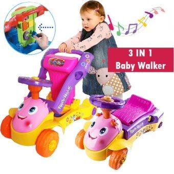 Harga 3 IN 1 My 1st Steps Push & Ride Baby Walker Ride on Car ToyPINK