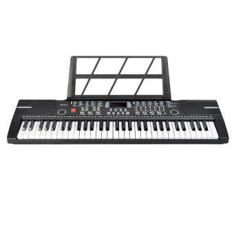 360DSC 61 Key Electronic Keyboard Piano with Microphone and Piano Sore Stand Musical Toy for Children BD-612 - Black