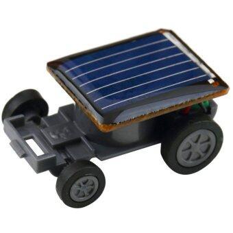 360DSC Smallest Mini Solar Power Robot Toy Car Auto for Children Kids Funny - Black