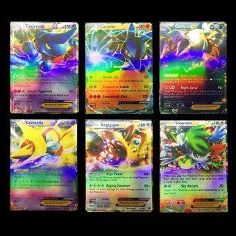 50Pcs For Pokemon EX Flash Card (40Pcs Basic Card+ 10Pcs Mega cardNo Duplicate) - 3