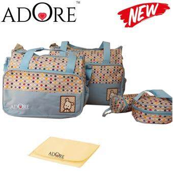 ADORE 2017 New Design 5 in 1 Mummy Diaper Bag- Light Blue