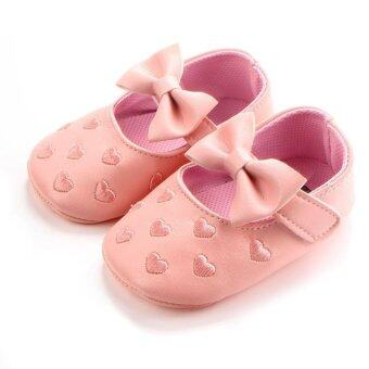 Ai Home Baby Toddler Firstwalkers Kids Prewalker Bowknot PrincessShoes (Pink)