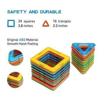 Allwin 40-Pcs Magnetic Blocks Set Kids Magnetic Toys ConstructionBuilding Tiles Blocks for Creativity Educational - 4
