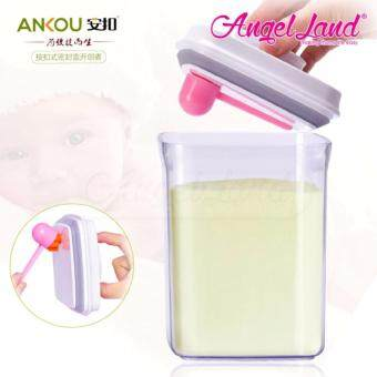 Harga Ankou Airtight 1 Touch Button Container For Milk/Food/Herba Storage(1000ml/400g/Rectangle-AK-1000-BAC-B)