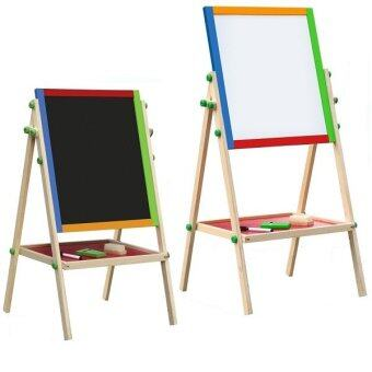 BABY A Tall Double Sided Folding Black and White Wooden Easel ChalkBoard Drawing Board