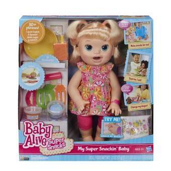 Baby Alive Super Snacks Snackin Sara Blonde - 2