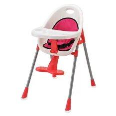 Baby High Chair & Booster Seat (Red) - Include Red Pad