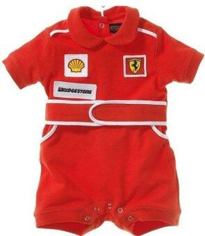 Harga Baby Summer boy red car short sleeve Romper