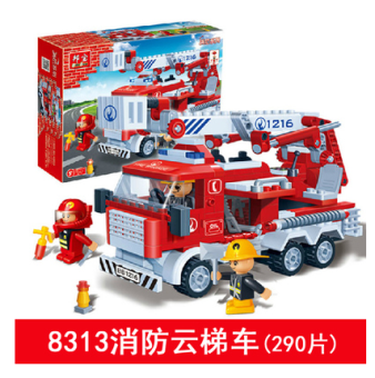 BanBao assembled police building blocks