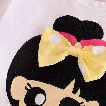 Bear Fashion Baby Clothing Kids Summer Sweet Bow Girls Clothes 2pcs Set Suit - 2