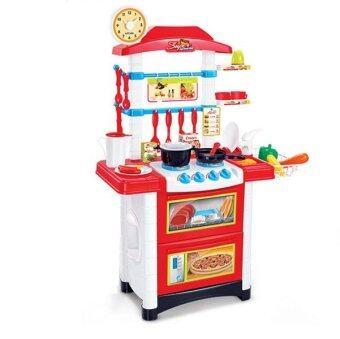 Big Size [87cm] Kids Kitchen Play Set - Red | Lazada Malaysia