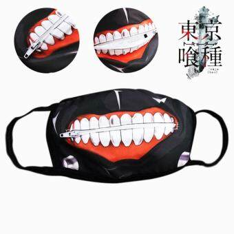 Harga Cartoon Tokyo Ghoul Masks Kaneki Mask Cotton Not Pu Leather ZipperDust-proof Mask Blinder Anime Cosplay for Masquerad Party