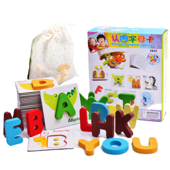 Children's Early Childhood cognitive knowledge map material 26, English letters card baby ENLIGHTEN Yi Zhi learning toys 1-3-year-old
