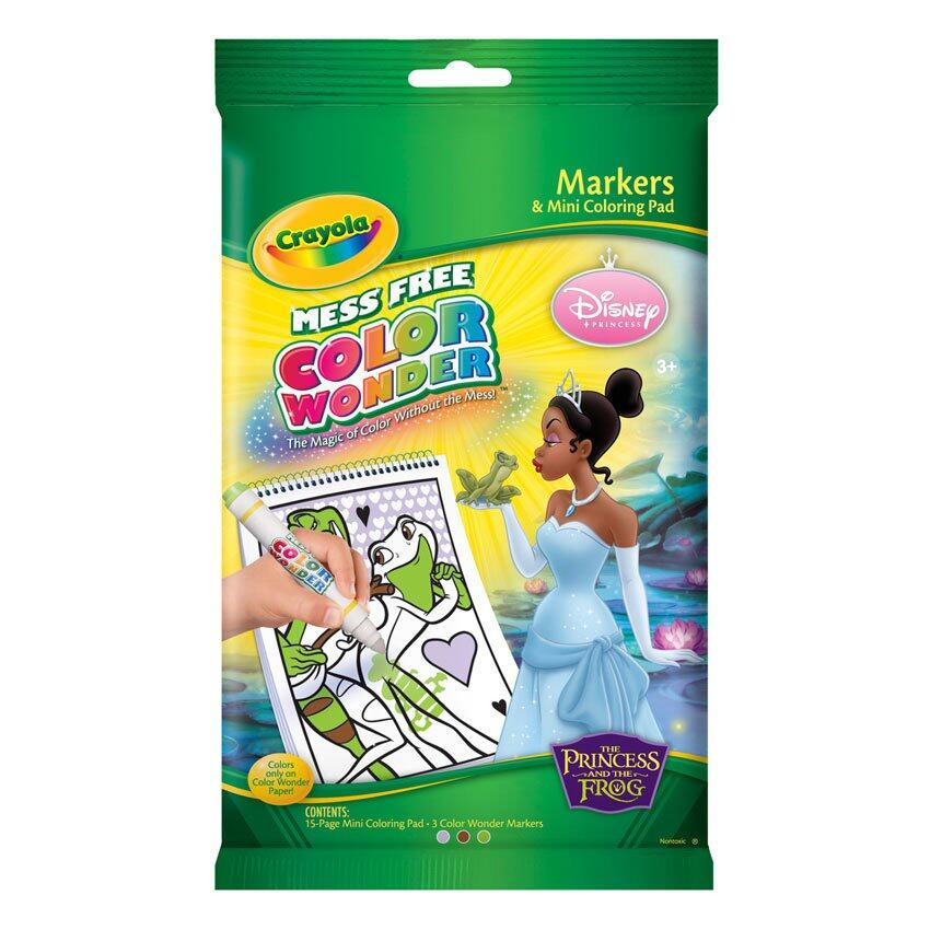 Crayola Mess-Free Color Wonder Disney Princesses Mini Coloring Pad ...