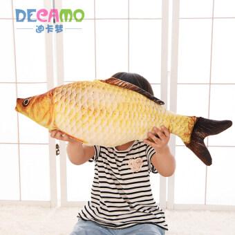Creative simulation fish plush toy doll large to sleep pillow fish cloth doll children's girls birthday gift