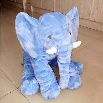 Cuddly Baby Kid Long Nose Elephant Animal Doll Soft Stuffed ToysPillow (Blue/40CM) - 3